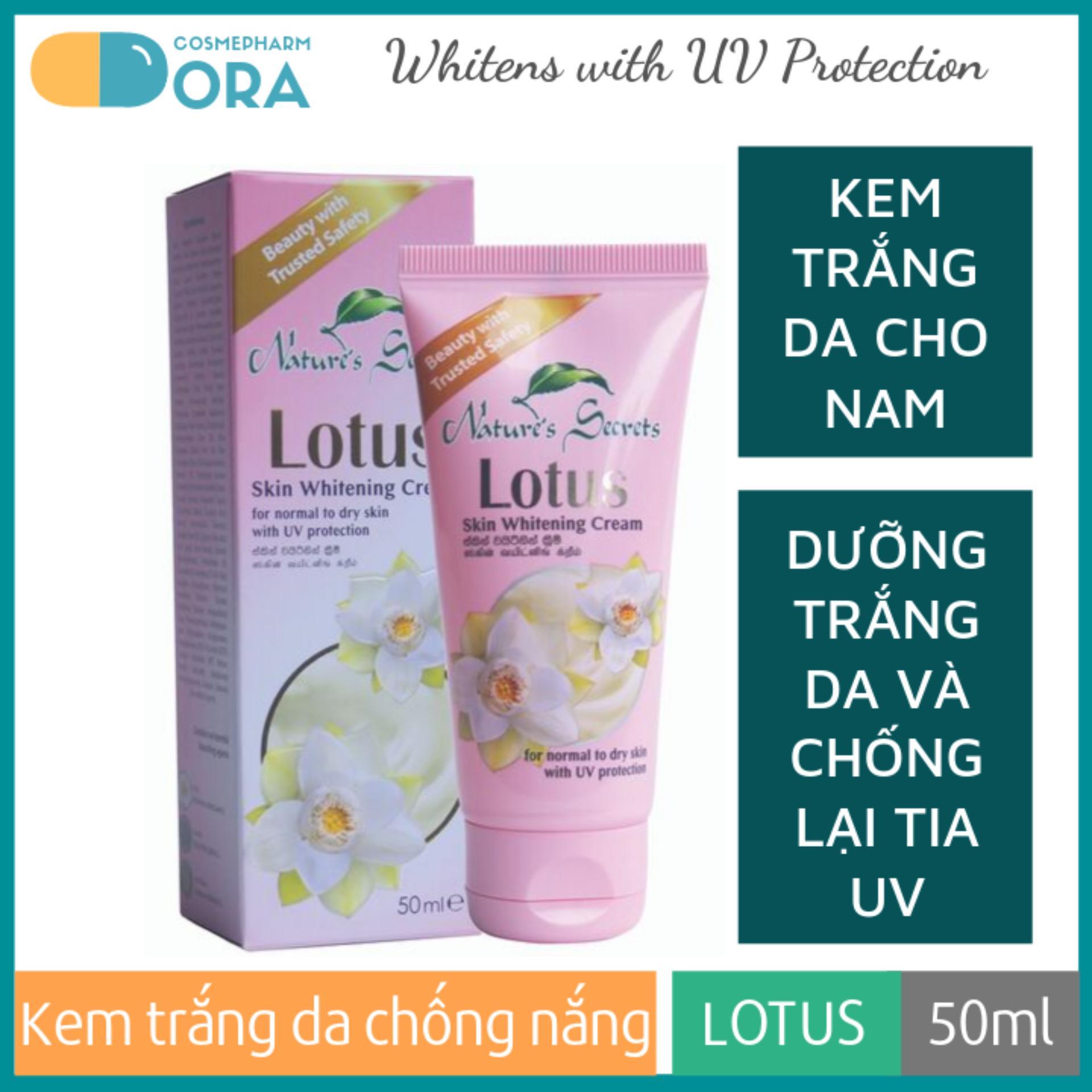 Kem trắng da chống nắng cho nam Lotus Whitening Cream 50ml chính hãng