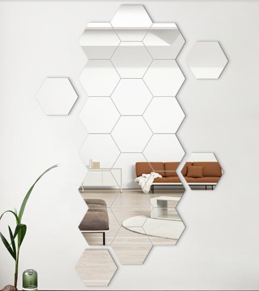 [HÀNG HOT 2020 ] Gương dán tường, bộ 12 gương dán tường, kích cỡ 4x4cm, 8X8 cm , 11X11 cm ,gương dán tường trang trí giá rẻ