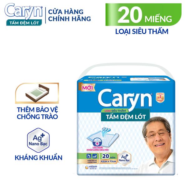 [VOUCHER 25K]Tấm đệm lót Caryn siêu thấm 20 miếng giúp bảo vệ chống trào, với công nghệ nano bạc kháng khuẩn ngăn ngừa vi khuẩn và kiểm soát mùi hiệu quả nhập khẩu