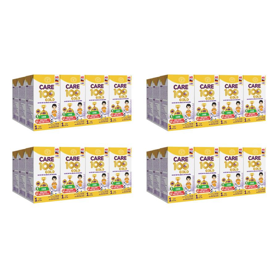 Thùng Sữa Nước Nutricare Care 100 Gold - Cho Trẻ Thấp Còi, Biếng ăn, Suy Dinh Dưỡng (110ml X 48 Hộp) Giá Siêu Cạnh Tranh