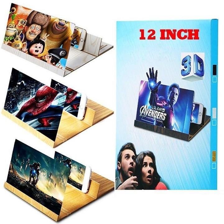Giá Kính Phóng Đại 12 Inch 3D Cho Màn Hình Điện Thoại muasamgiare24h