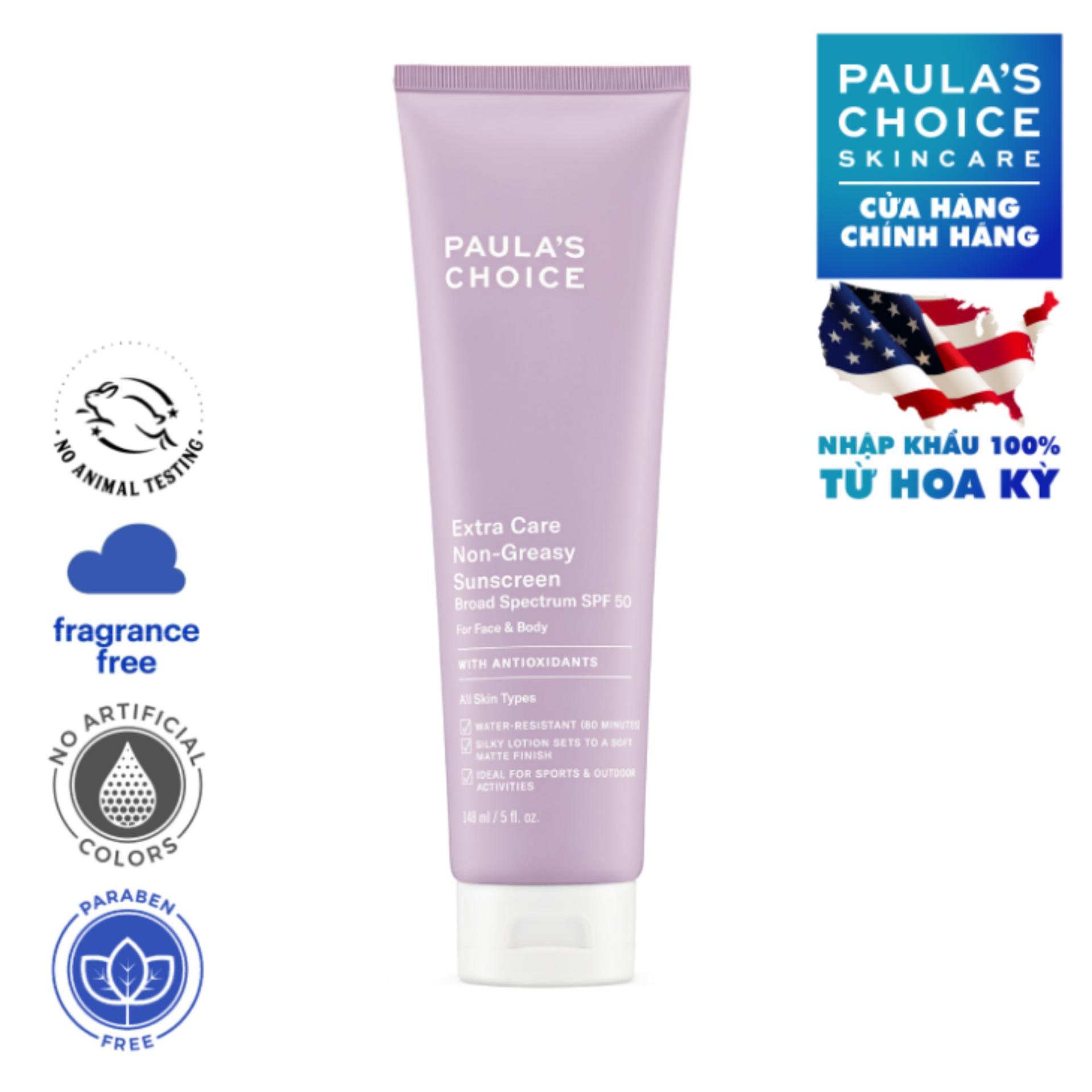 Kem chống nắng siêu chịu nước Paula's Choice Extra Care Non Greasy Sunscreen SPF 50 148ml 2320