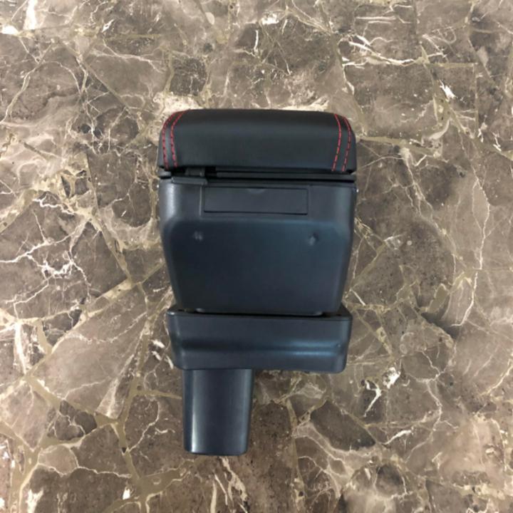 Hộp tỳ tay ô tô, xe hơi tích hợp 7 cổng USB dùng cho xe Toyota Rush và Toyota Avanza ( Màu đen chỉ đỏ) - 6