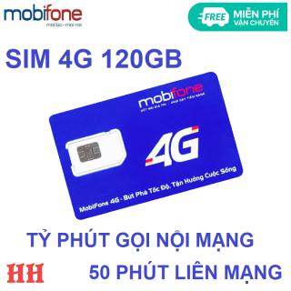 Sim 4G 120GB tỷ phút mobifone 50 phút liên mạng không có tài khoản miễn phí vận chuyển thumbnail