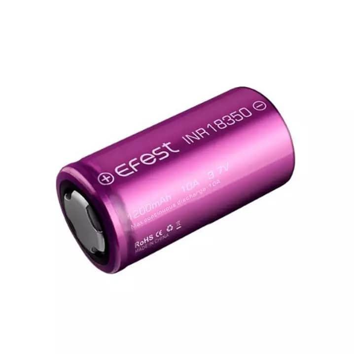 Pin sạc Efest INR 18350 1200mAh 10A Flat Top Battery