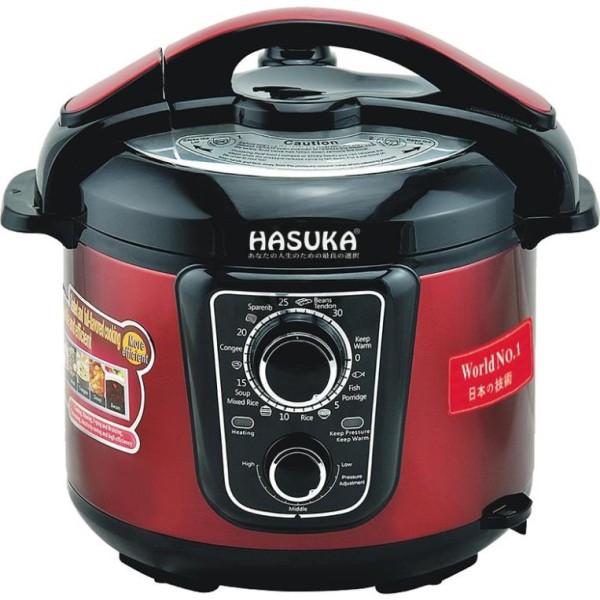 Nồi áp suất điện đa năng Hasuka HSK-985, áp suất điện siêu an toàn, xả khí dễ dàng không bị phỏng