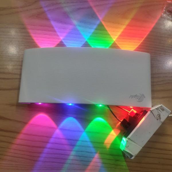 Đèn hắt tường 2 đầu 4 màu 8 mắt led (Mã 107Đ-T)