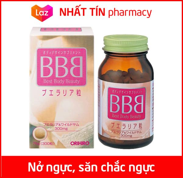 Viên uống nở ngực BBB Best Beauty Body Orihiro Nhật Bản hỗ trợ cân bằng nội tiết tố, giảm nám sạm da - Chai 300 viên giá rẻ