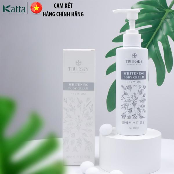 Kem ủ trắng da toàn thân cấp tốc Truesky Premium dạng vòi nhấn Truesky - Whitening Body Cream 200ml