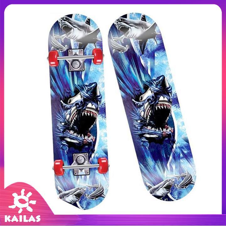 Giá bán Ván Trượt Trẻ Em- Ván Trượt Skateboard- Thiết Kế Nhỏ Gọn - Ván Gỗ Dày Khung - Hợp Kim Chắc Chắn