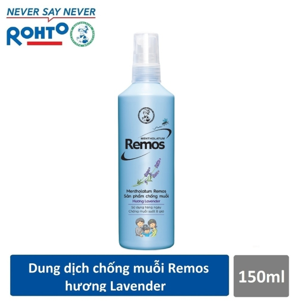 Dung dịch chống muỗi Rohto Metholatum Remos Hương Lavender 150ml giá rẻ