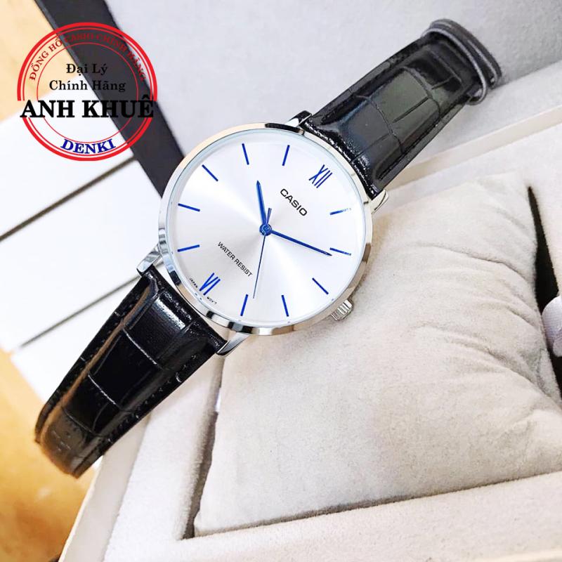 Đồng hồ nữ dây da Casio Standard Anh Khuê LTP-VT01L-7B1UDF mặt kính chống xước