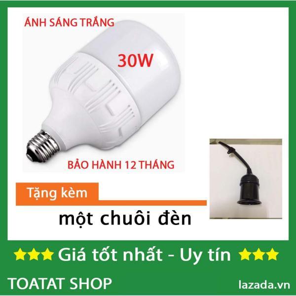 [Sĩ] Bộ 1 / 2 Bóng đèn Led trụ 30W (ánh sángTrắng) - tặng chuôi đèn