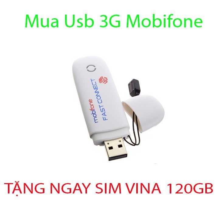 USB 3G MOBIFONE 7.2 Mbps dùng được tất cả các mạng Growntech - Tặng Kèm Siêu Sim
