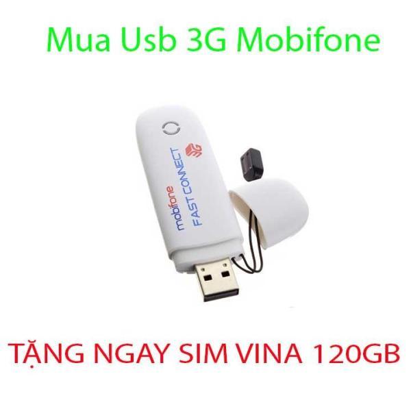 Bảng giá USB 3G MOBIFONE 7.2 Mbps dùng được tất cả các mạng Growntech - Tặng Kèm Siêu Sim Phong Vũ