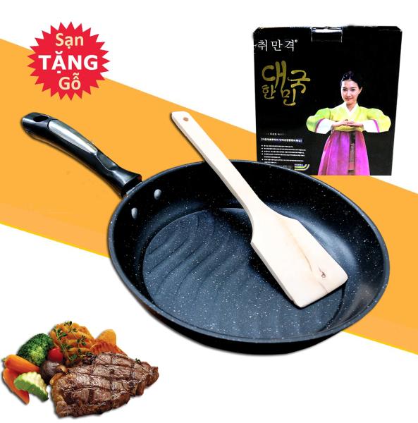 Chảo Chống Dính Vân Đá Maifan Đa Năng Bề Mặt Gợn Sóng Dùng Chiên, Xào, Nướng Thịt Phong Cách Korea