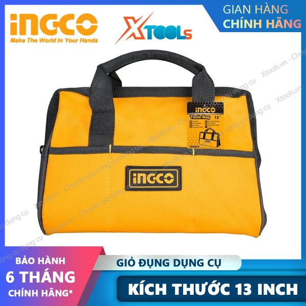 [HCM]Túi đựng đồ nghề sách tay INGCO HTBG05 13 túi đựng dụng cụ phụ kiện polyester 600D có khoá cài siêu bền chắc form đứng [XSAFE] [XTOOLs]
