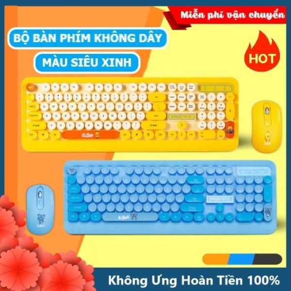 Bảng giá Bộ bàn phím và chuột không dây máy tính pc laptop K68 CỰC XINH màu siêu đẹp Combo gồm phím và chuột gõ cực đã kết nối xa 10m cổng thu usb siêu nhạy - XSmart Phong Vũ