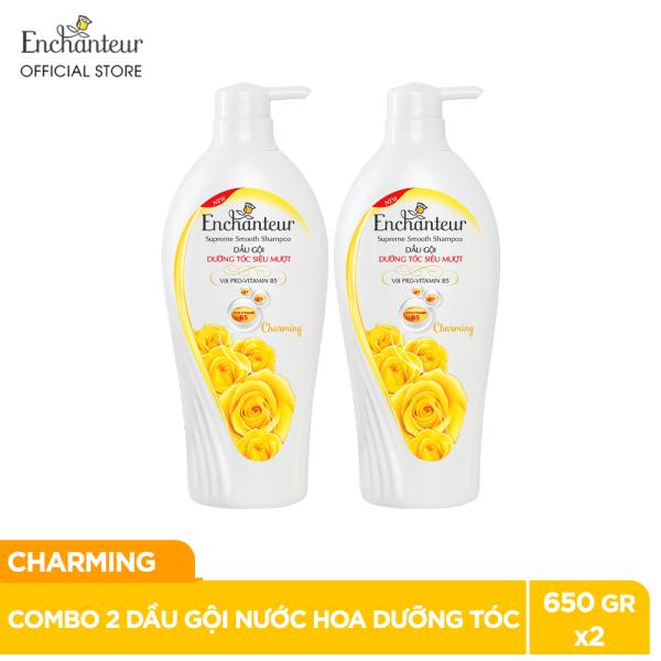 [Voucher 30k][Freeship] Combo 2 Dầu gội nước hoa Enchanteur Charming dưỡng tóc siêu mượt 650gr/Chai