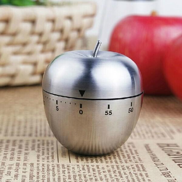 Nơi bán Đồng hồ cơ đếm ngược hẹn giờ hình quả táo, dùng trong công việc, nhà bếp... - Tặng 1 lọ tinh dầu quế 10ml