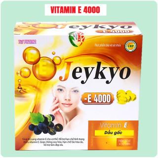Viên Uống đẹp da Vitamin E Đỏ Jeykyo 4000mcg Chiết xuất Hạt Nho,1000mcg, Dầu Gấc 20000mcg, Aloe vera 500mg chống lão hóa- Hộp 100 viên 3