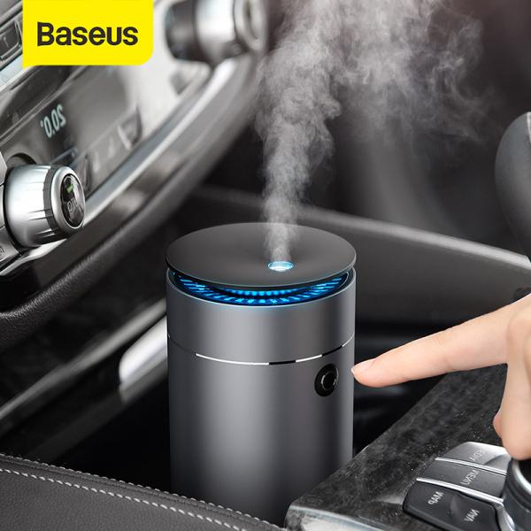 Máy làm ẩm ô tô Baseus Bộ khuếch tán Máy lọc không khí ô tô Máy tạo sương mù USB với đèn LED cho văn phòng ô tô Bộ khuếch tán tinh dầu thơm