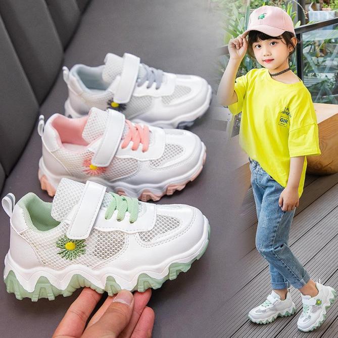 [Size 26-37] Giày Thể Thao Cho Bé Trai/Gái Sneaker Lưới Hoa Cúc - GT257 giá rẻ