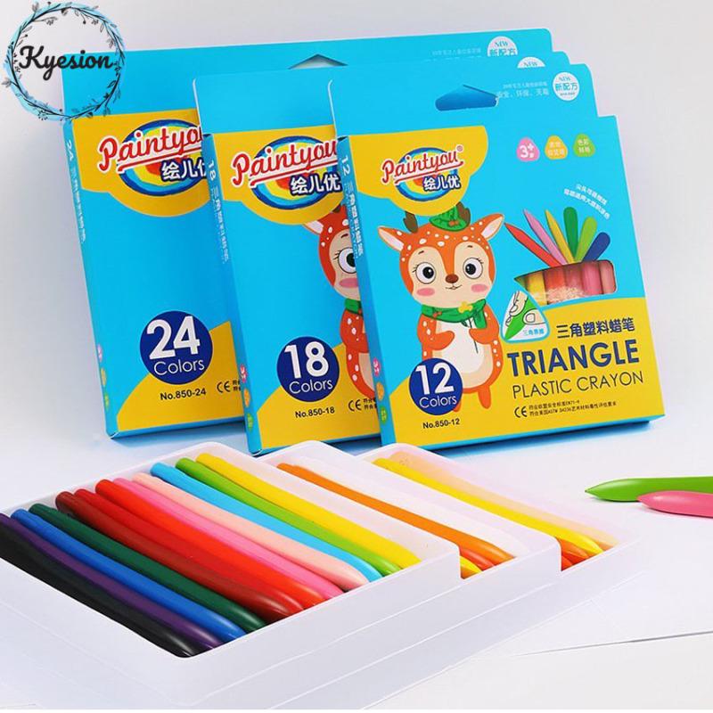 Mua [TẶNG TẬP TÔ MÀU 9K][Bộ 24]Bút màu hữu cơ cho bé, màu vẽ, bút sáp màu hữu cơ, bút tô màu hữu cơ, bút màu an toàn cho bé, KYESION,100% hữu cơ an toàn, không chất độc hại, không bám màu trên tay, dễ dàng tẩy rửa
