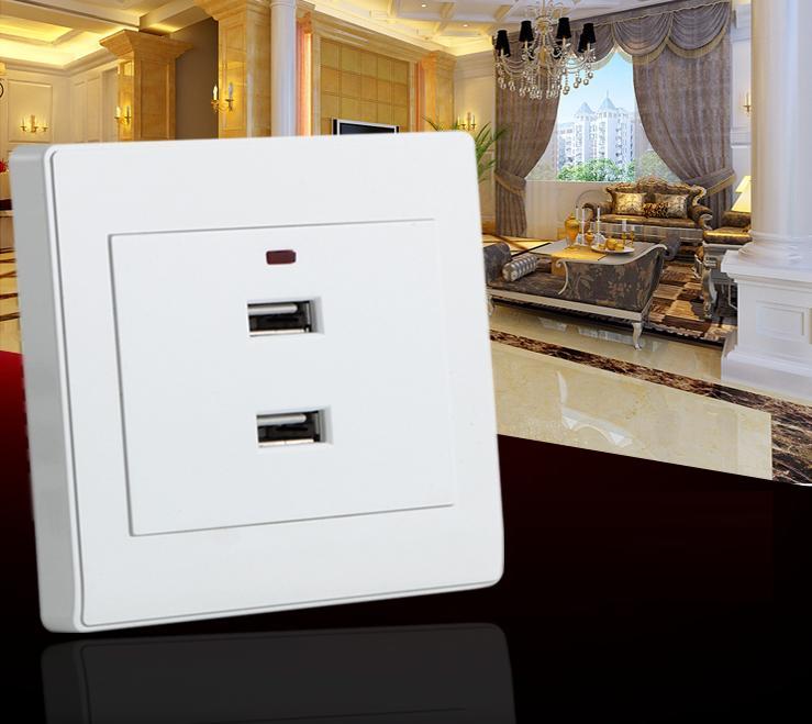 Ổ Cắm Điện Âm Tường 2 Cổng USB eWeLink L7-86U2