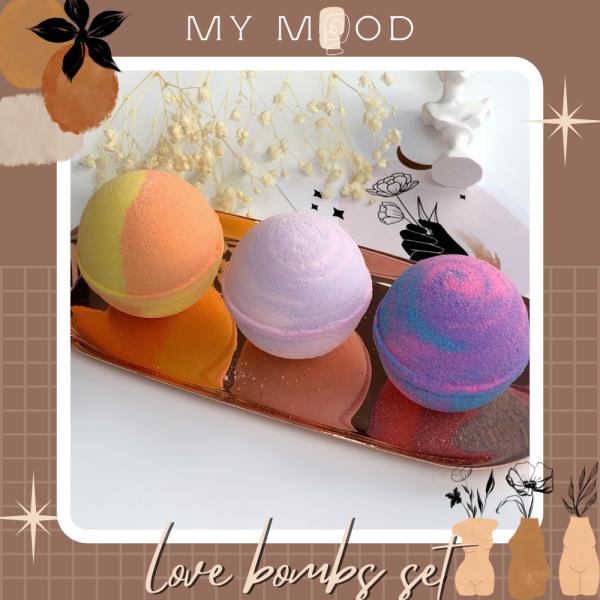MY MOOD LOVE BOMB Bath Bomb set | Set bom tắm bồn Love bomb giá rẻ