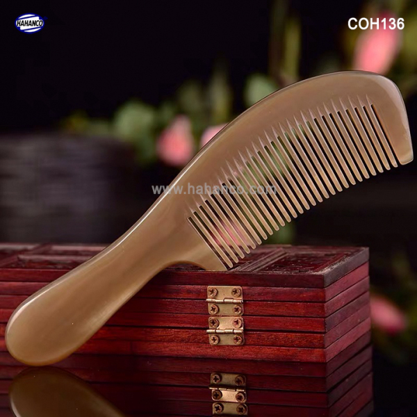 Lược sừng xuất Nhật (Size:L- 18cm) Mẫu lược trơn chuẩn đẹp cao cấp [COH136] HAHANCO
