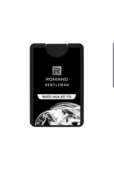 Nước hoa bỏ túi Romano Gentleman hiện đại ấn tượng 18ml