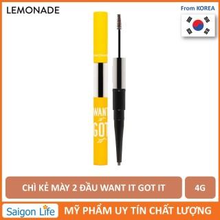 Chì Kẻ Mày 2 Đầu Lemonade Want It Got It Dual Eyebrow 4g thumbnail