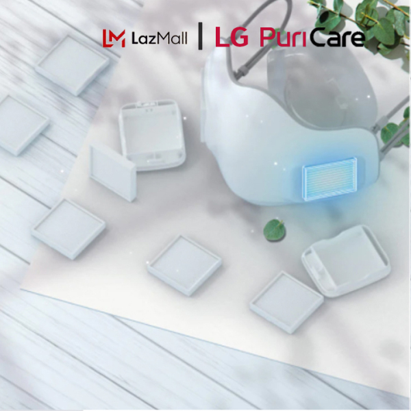 Bảng giá Tấm lọc HEPA - Tấm lọc thay thế cho khẩu trang LG Puricare Mask PFDAHC02 Chính Hãng