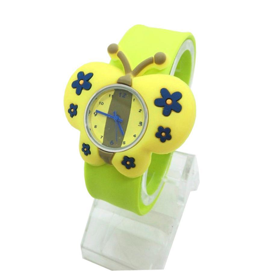 Nơi bán Đồng hồ Silicon hình Bướm vàng đáng yêu cho bé