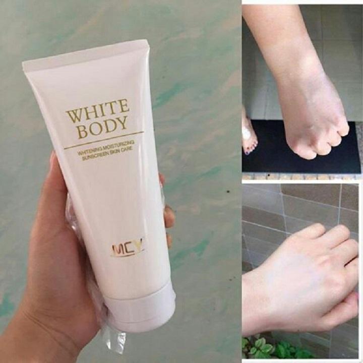 Combo 10 Tuýp Kem dưỡng trắng White body MCY 200ml trắng