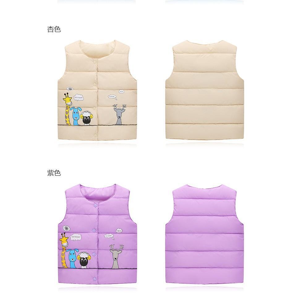 Áo Phao Gile Cho Bé AK5 áo khoác màu đông cho bé