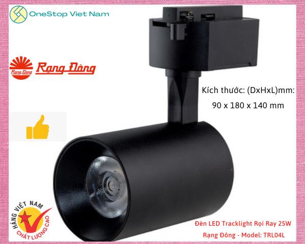 Đèn LED Tracklight Rọi Ray 25W Rạng Đông - Model: TRL04L