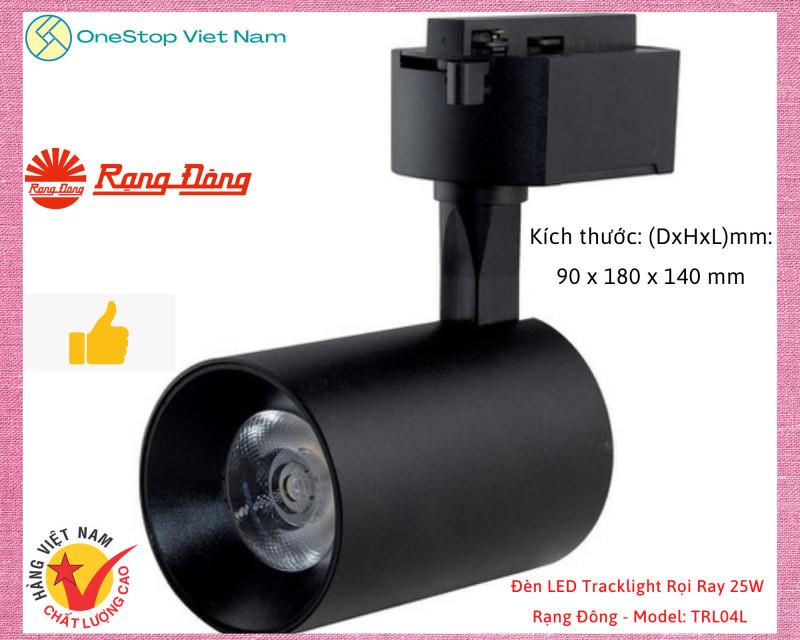 Đèn LED Tracklight Rọi Ray chiếu sáng CHÍNH HÃNG Rạng Đông 25W - Model: TRL04L
