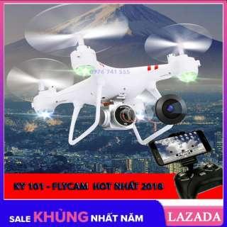 Máy bay Flycam KY101 Có chế độ tự về bằng 1 nút bấm trên tay điều khiển Flycam giá rẻ (Bản không Camera)