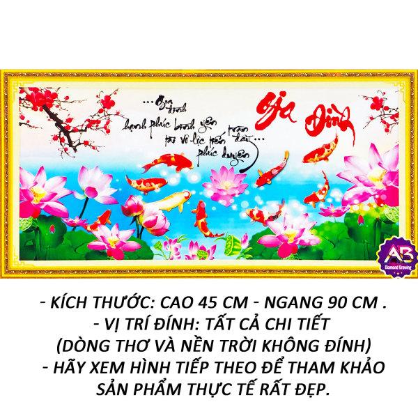 Tranh đính đá 5D - Gia Đình 138 - Tranh Minh Hiền (TỰ ĐÍNH ĐÁ) -Tặng 2 Viết Đính Đá Siêu Cấp (Đính 7 Viên Cùng Lúc).