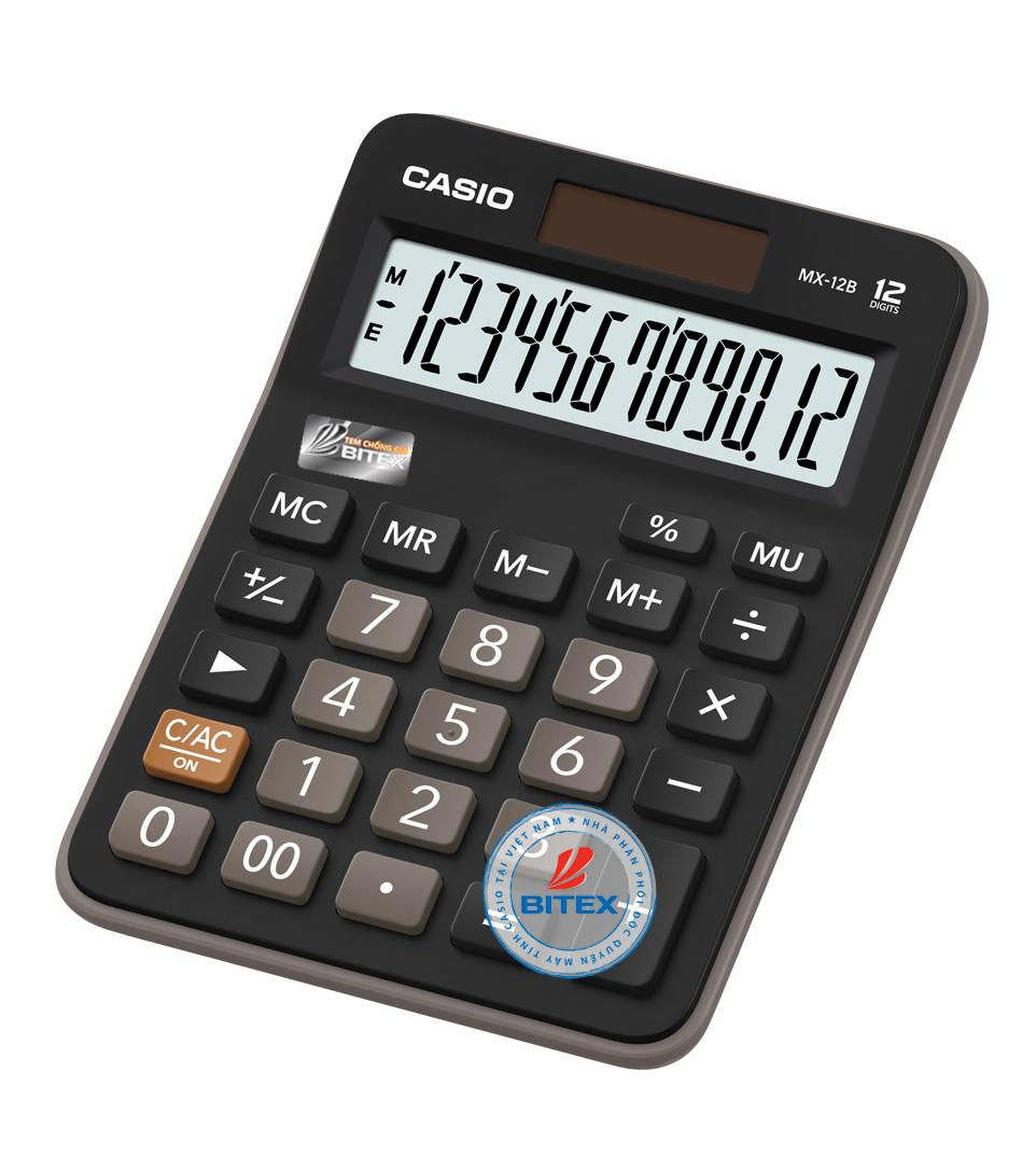 Mua Máy tính Casio MX-12B (Casio MX 12B) - N/k bởi Bitex - B/hành 02 năm