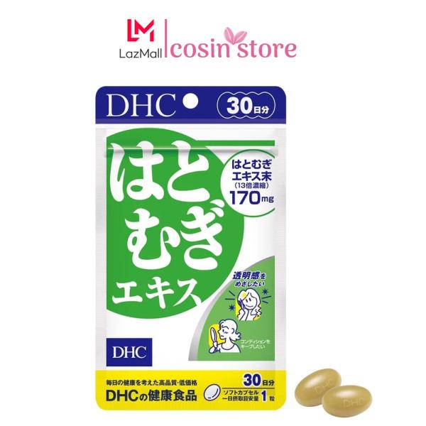 Viên uống trắng da DHC Adlay Extract gói 30 viên 30 ngày dùng - Hỗ trợ sáng da