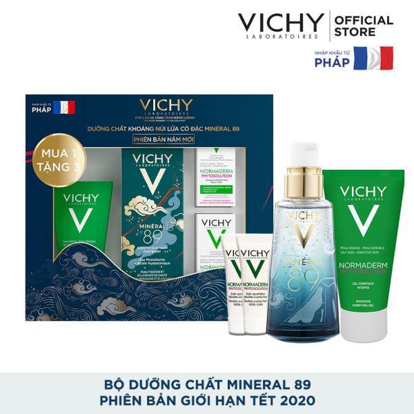 Bộ sản phẩm Dưỡng Chất (Serum) Giàu Khoáng Chất Giúp Da Sáng Mịn Và Căng Mượt Vichy Mineral 89 - Phiên bản giới hạn Tết 2020 tốt nhất