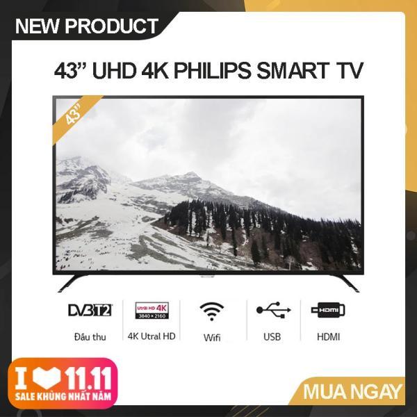 Bảng giá Smart Tivi Led Philips 43 inch Ultra HD 4K - Model 43PUT6023S/74 (Đen) Công nghệ hình ảnh Pixel Plus HD, Tích hợp DVB-T2 Wifi - Bảo Hành 2 Năm