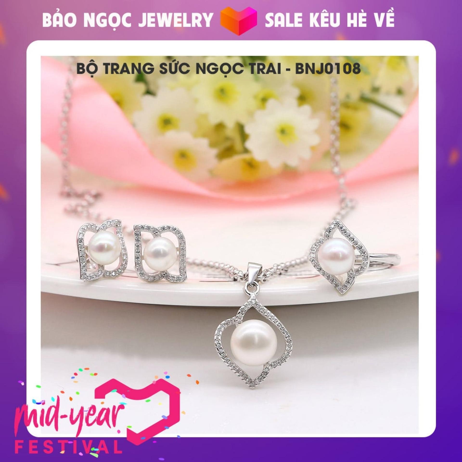Bộ Trang Sức Ngọc Trai Cao Cấp BNJ – 0108 Bảo Ngọc Jewelry