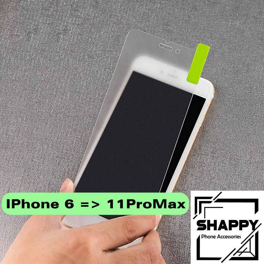 Giá Kính Cường Lực IPhone Nhám Không Viền Chống Vân Tay Đủ Các Dòng [Shappy Shop]