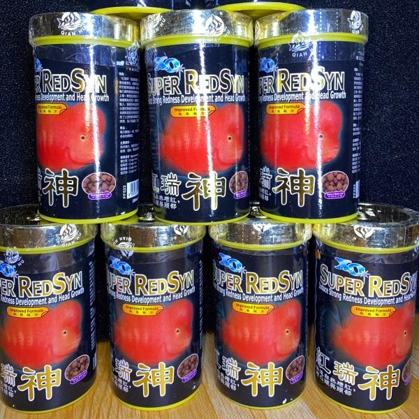 Thức Ăn Cá La Hán Giúp Lên Đầu XO Super RedSyn Hũ Đen Nhỏ 120g |Cám Cá Cảnh La Hán Cao Cấp