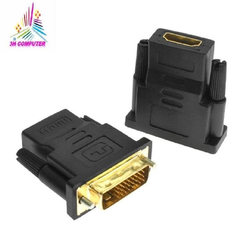Bảng giá Đầu chuyển đổi DVI-D (24+1) cổng đực sang HDMI cổng cái , Đầu chuyển DVI sang HDMI Phong Vũ