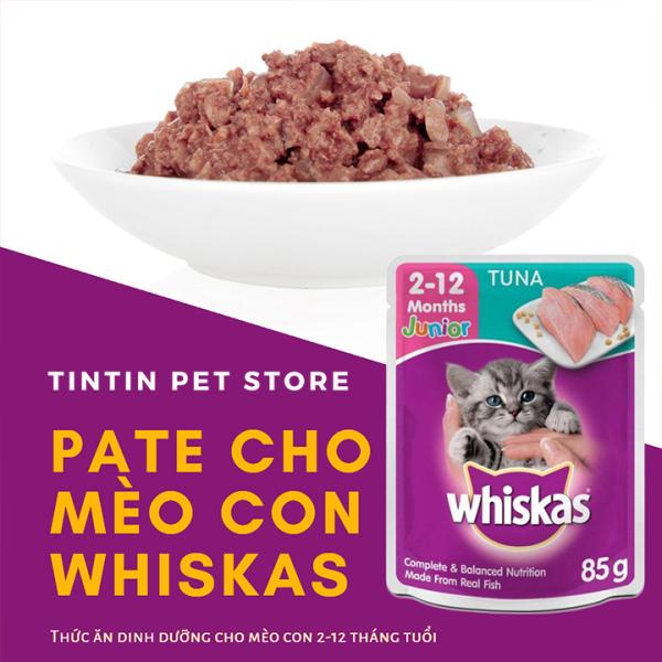 Pate Whiskas Cho Mèo Con Vị Cá Ngừ Túi 85g Giá Rẻ